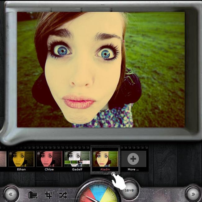 эффект фото на фото онлайн