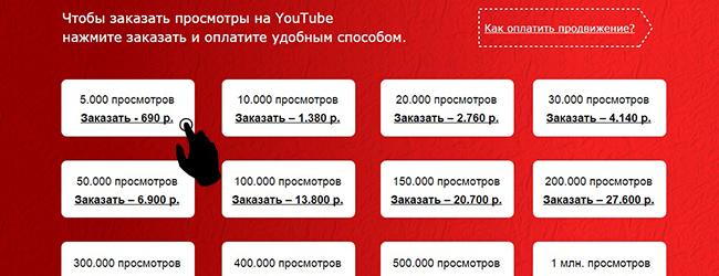 Накрутка просмотров You Tube