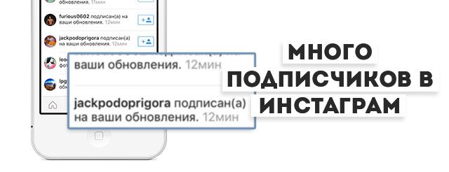 Много подписчиков в инстаграме