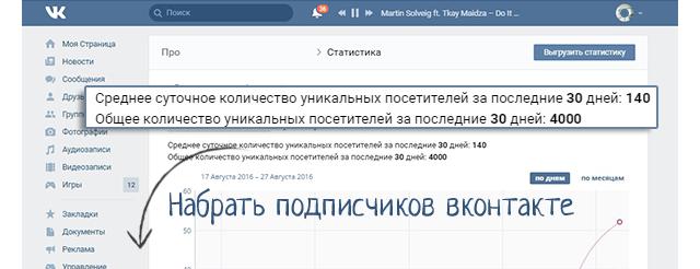 Набрать подписчиков во вконтакте